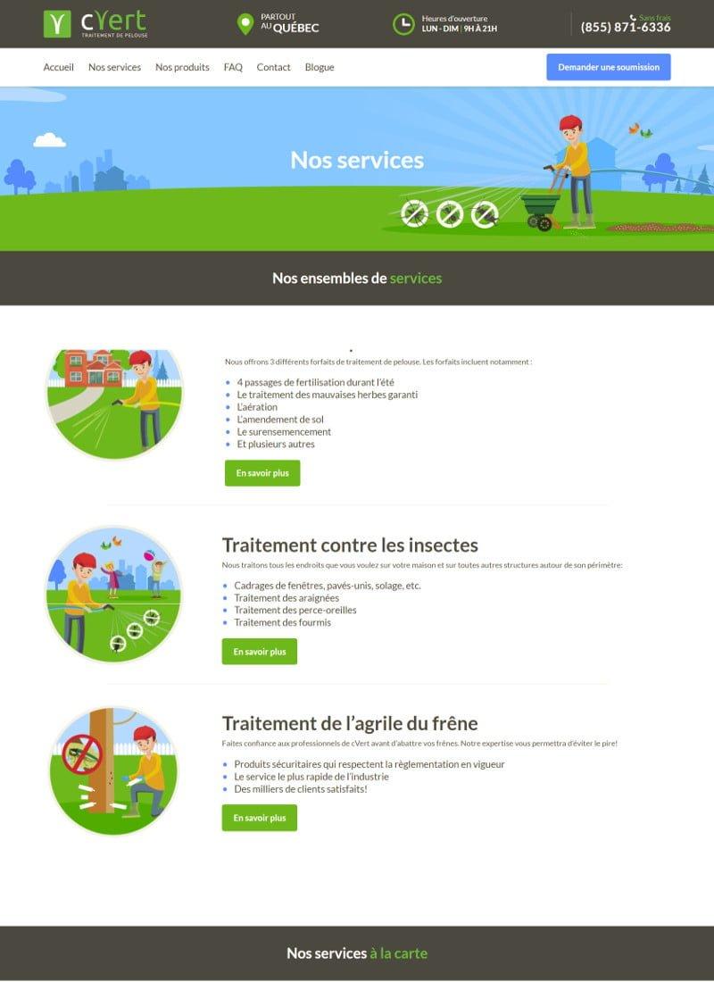 Portfolio - cVert - Site web