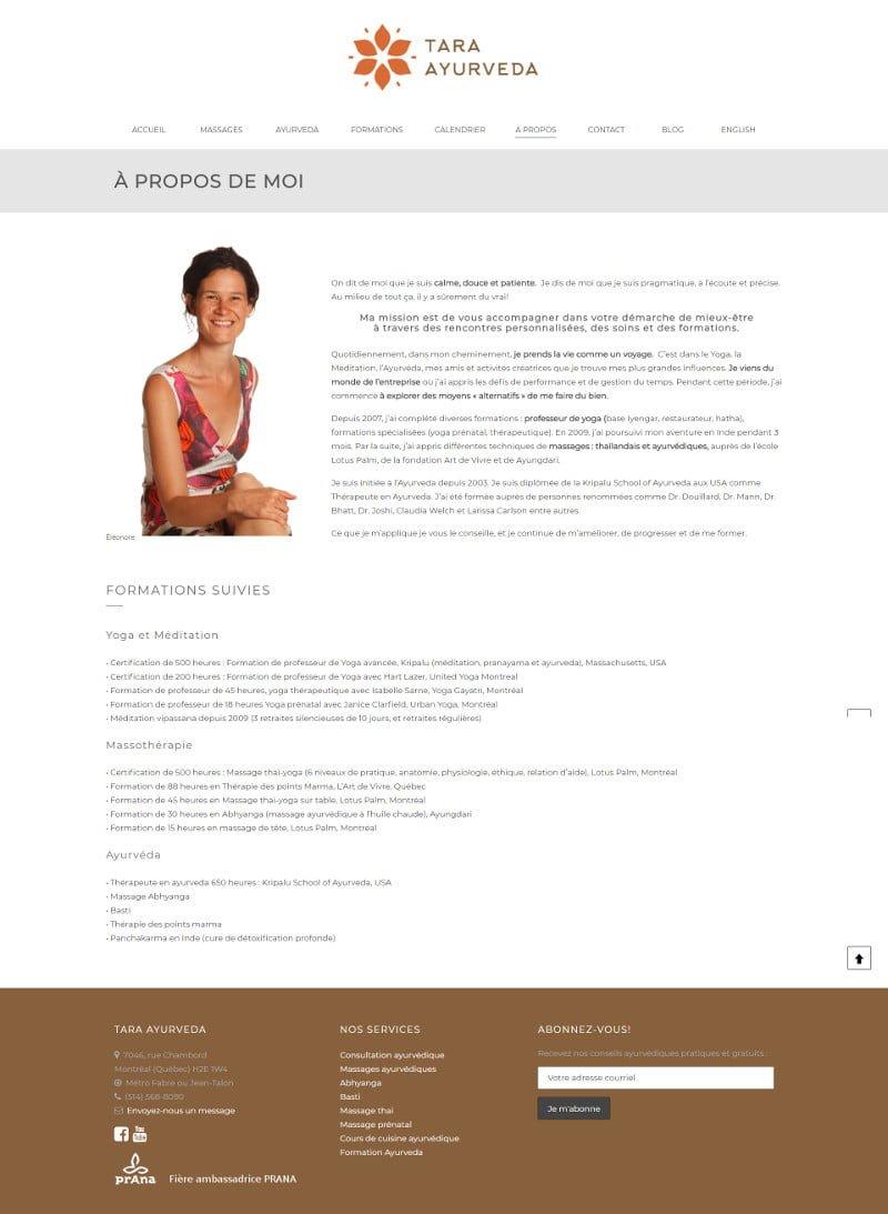 Portfolio - Tara Ayurveda - À propos