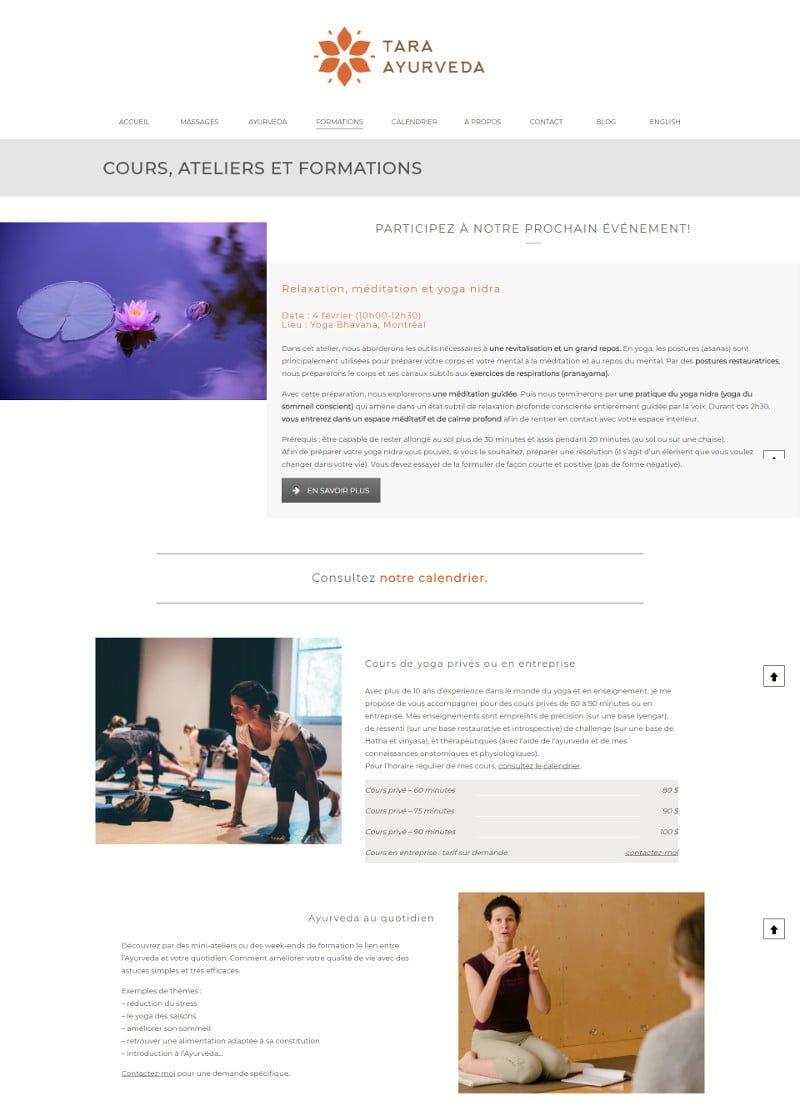 Portfolio - Tara Ayurveda - Ateliers