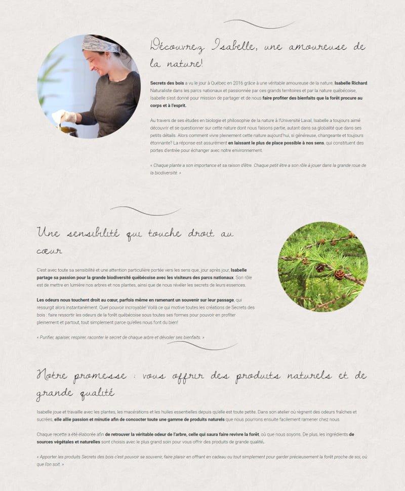 Portfolio - Secrets des bois - À propos