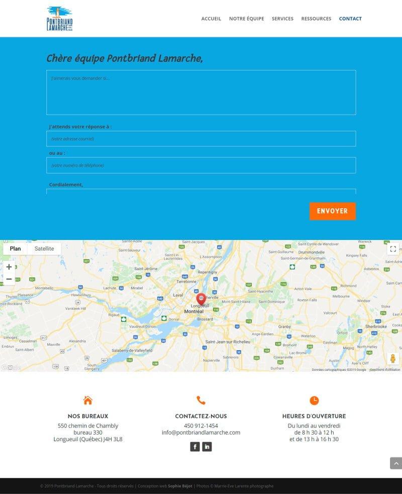 Portfolio - Pontbriand Lamarche - Contact