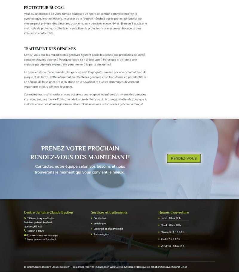 Portfolio - Claude Bastien - Service prévention