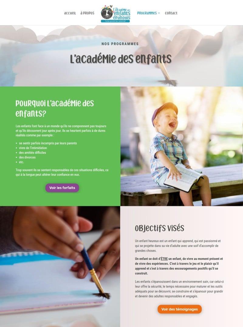 Portfolio - Valérie Gotteland - Académie des enfants