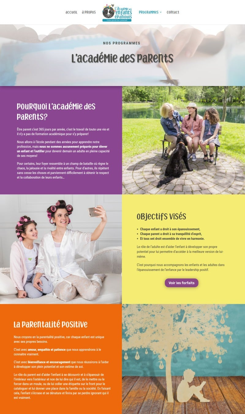 Portfolio - Valérie Gotteland - Académie des parents