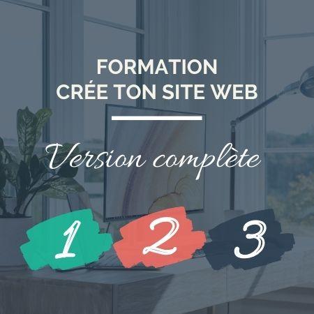 Formation en ligne - Crée ton site web version complète - Sophie Béjot